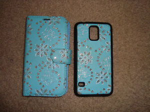Cell Phone Cover with magnetic back cover for Samsung S-5