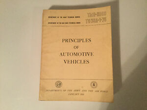 1956 Army & Airforce Military Vehicles Motorcycle Service Manual