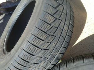 16 Inch winter tires x 2. Nokian  235 60R16