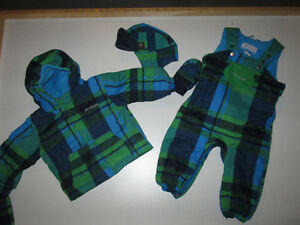 Columbia size 18 months Snowsuit, Hat and Mittens