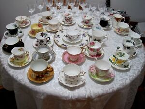 Royal Albert and Bone China 26 cups and saucers