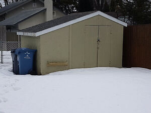 Sheds and chain link fencing