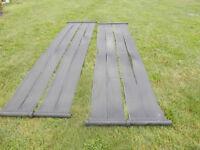 tapis solaire ou chauffe-eau piscine