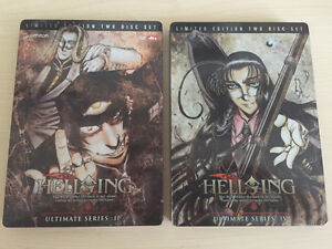 Hellsing Ultimate Vol. II and IV Limited Edition Steel Case DVDs