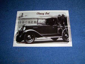1930 CHEVY PICK UP TRUCK CARD-1992 CHEVY SERIES-COLLECT A CARD