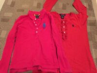 2 Genuine Ralph Lauren tops age 8-10