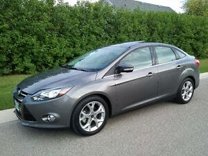 18km 2014 Ford Focus Titanium Sedan Remote Start Leather Sunroof