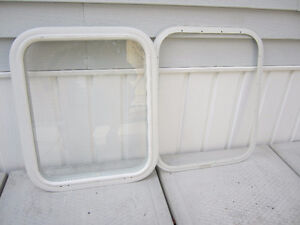 Travel trailer window measurements are in the photos