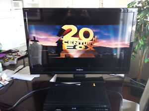 LCD TV and Toshiba DVD Player