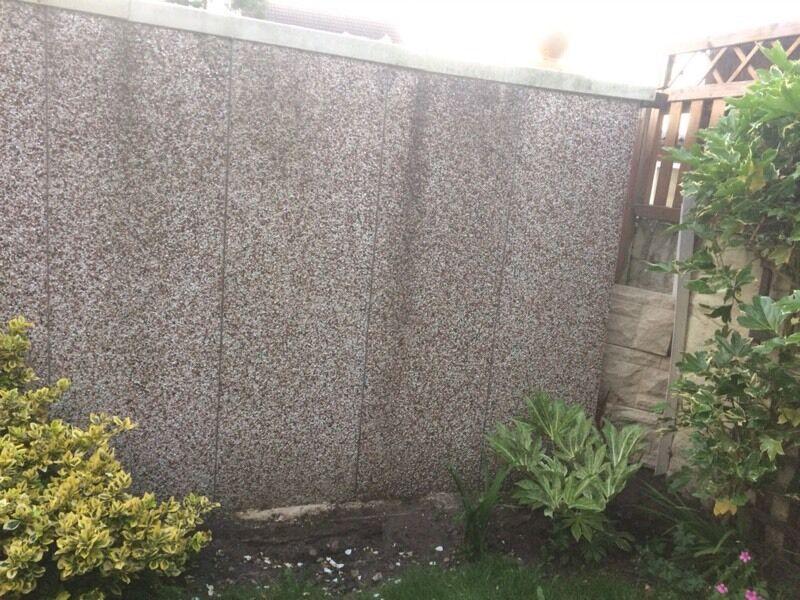 4 Sectional Garage Panels Reinforced Cast Concrete Pebble