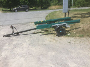 Older bunk style boat trailer suitable for 14 foot fishing boat
