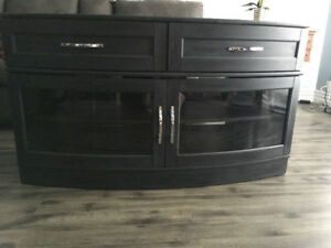 Charcoal Antique Finish TV Stand