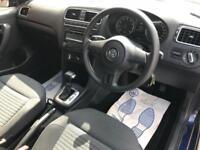 2010 Volkswagen Polo 1.4 SE DSG 5dr Petrol blue Semi Auto