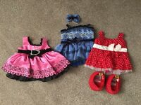 3 limited edition Build a bear dresses