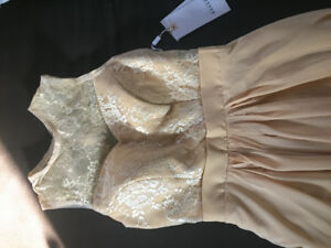 Golden Chiffon Dress