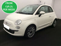 £159. 26 PER MONTH Fiat 500 1.2 S/S Dualogic 2015 LOUNGE HATCHBACK