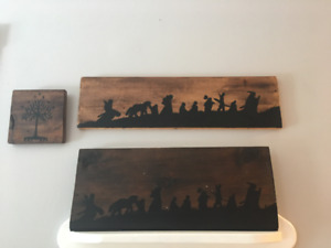 Lord of the Rings Wooden Wall Paintings