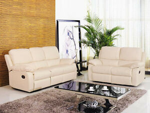 Genuine Leather Recliner Sofa and Loveseat ( 821)