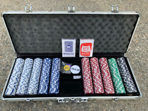 11.5 Gram Texas Hold 'em Clay Poker Chip Set with Aluminum Case