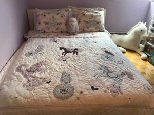 Horse quilt from pottery barn