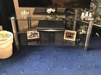 *PRICE DROP*Large glass three tier tv stand