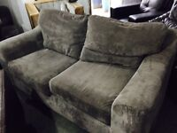 Grey fabric 3 and 1 sofas