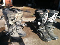 various dirtbike parts and gear