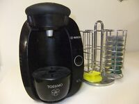 TASSIMO T20 ONE CUP BEVERAGE MAKER AND CAROUSEL POD HOLDER.OBO.