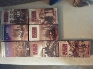 "7 VHS videos on ""The West"", $6 for all 7"