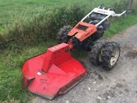 RASANT SUPER 90 PETROL 13HP TWO WHEEL TRACTOR WITH ROTARY MOWER