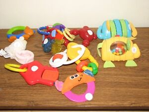 TEETHING & RATTLES FOR BABY .50 EACH