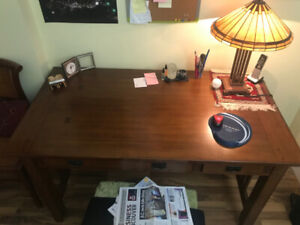 Antique Solid Wood Military  Desk