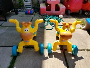 Yellow Giraffe Ride On toys