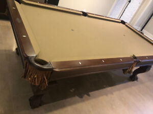 Pool Table- Brunswick slate top- For Sale