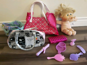 Doll, accessories, stuffies