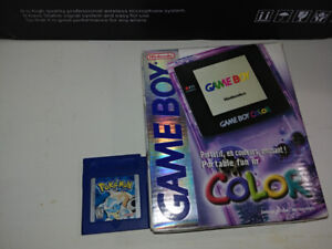 Gameboy Color with Pokemon Blue