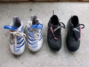 Kids Soccer Shoes with cleats (size 11.5 and 12)