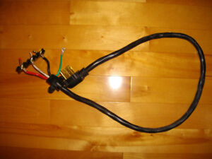 kitchen stove/oven power cord with terminal insulating block