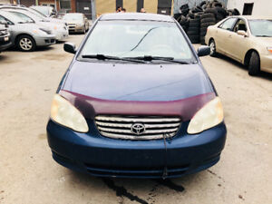 2003 TOYOTA Corolla CE 4cylinder 1.8L Automatic (NO A/C) 1699$
