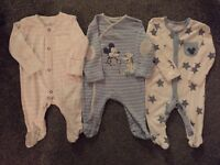 Up to 1 month/first size baby boys clothes