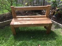 Kids solid wood bench