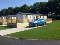 Static caravan in crantock Newquay to rent special offer late deal with a lakeveiw