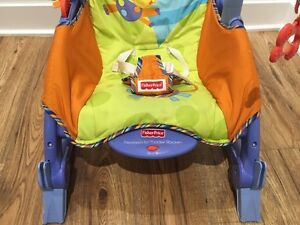 Fisher Price Newborn To Toddler Portable Rocker (Blue) Used West Island Greater Montréal image 3