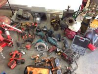 Lots of tools for sale - engine hoist - hydraulic power units