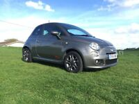 Fiat 500 S, Grey, One owner from new, Low Mileage 6000, Automatic, HPI Clear