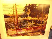 "Tom Thomson "" The Canoe "" Group of Seven Unframed with COA"