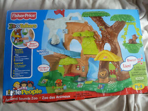 Fisher Price Zoo talkers little people neuf
