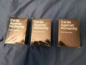 CARDS AGAINST HUMANITY, 4TH, 5TH AND 6TH EXPANSION PACKS NEW