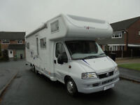 2005 Frankia Motorhome for sale 6 Berth end bathroom with slide out LOW MILEAGE