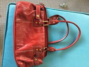 Red Full leather purse Peterborough Peterborough Area image 1